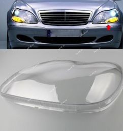 details about for mercedes benz w220 98 05 s class s500 clear lens shell cover headlight left [ 1000 x 1000 Pixel ]