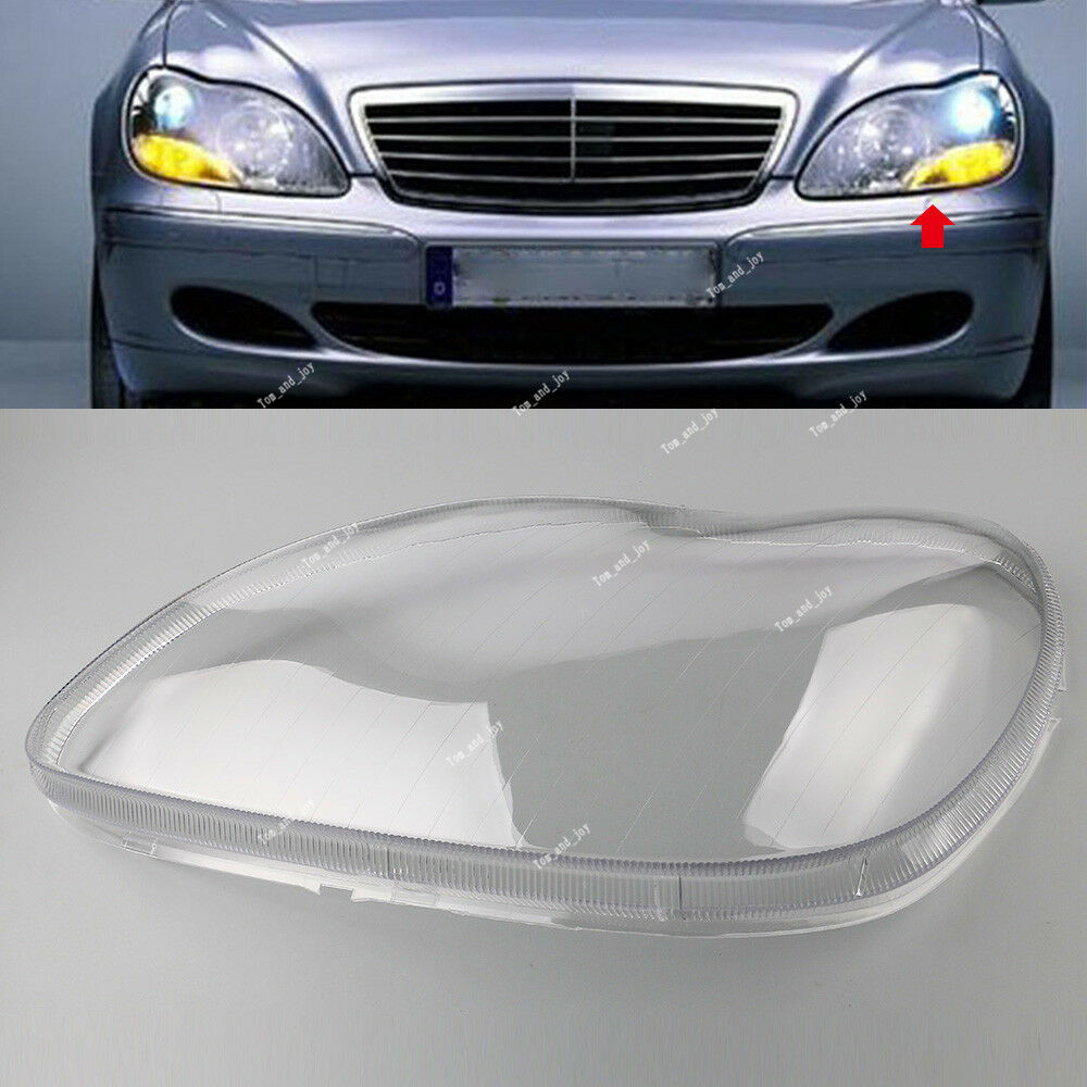 medium resolution of details about for mercedes benz w220 98 05 s class s500 clear lens shell cover headlight left