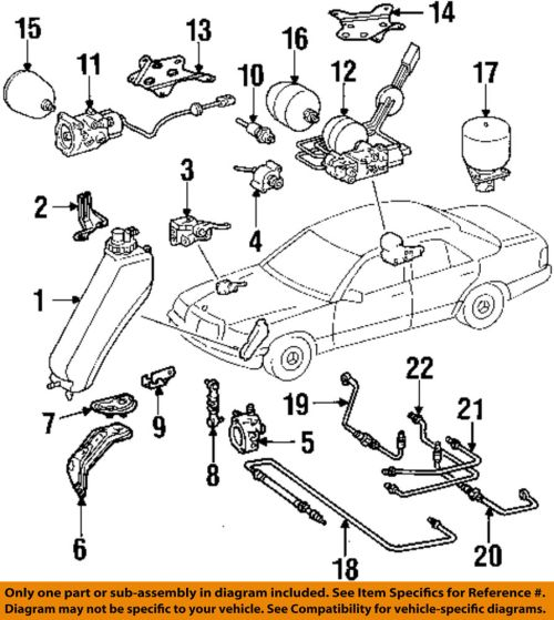 small resolution of details about mercedes oem 86 93 300e 3 0l l6 ride control service valve 1243500857