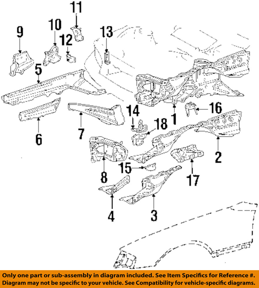 hight resolution of details about mercedes oem 86 93 300e fender support brace left 1246200328