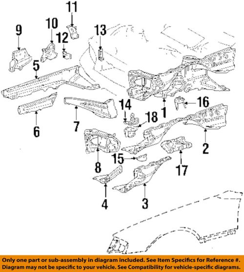 small resolution of details about mercedes oem 86 93 300e fender support brace left 1246200328