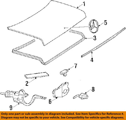small resolution of details about mercedes oem 86 91 560sec trunk lid handle 1267500093