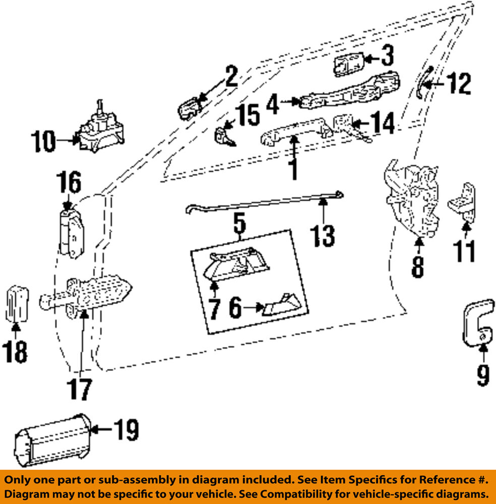 hight resolution of details about mercedes oem 86 93 300e door lock kit right 1247202435