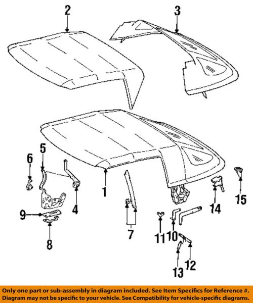 small resolution of details about mercedes oem 92 93 300sl convertible soft top guide left 1297702941