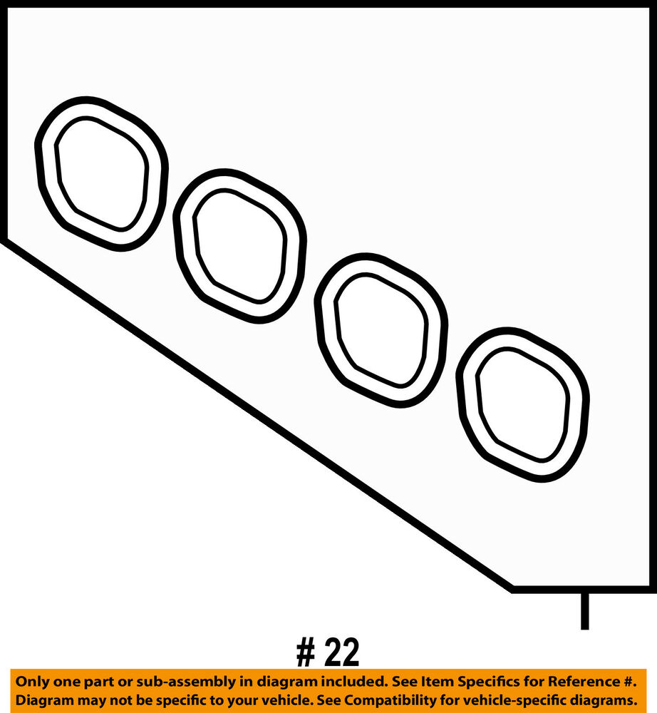 hight resolution of details about ford oem 11 18 fiesta engine intake manifold gasket 4m5z9439a