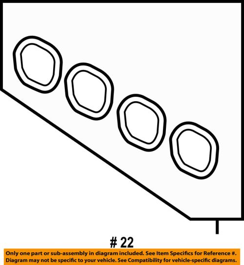 small resolution of details about ford oem 11 18 fiesta engine intake manifold gasket 4m5z9439a