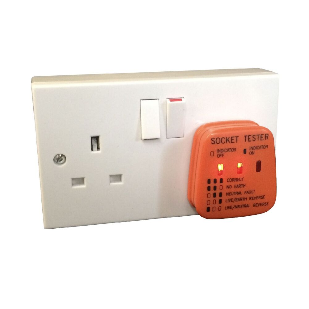 hight resolution of details about uk mains socket tester 240v polarity test 3 pin plug house electrical wiring