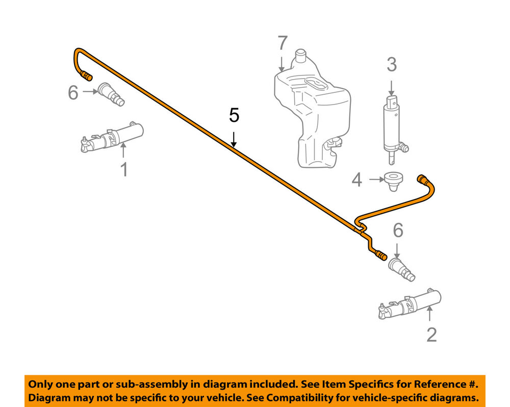 medium resolution of details about mercedes mercedes benz oem s550 washer headlight head light hose 2218600392