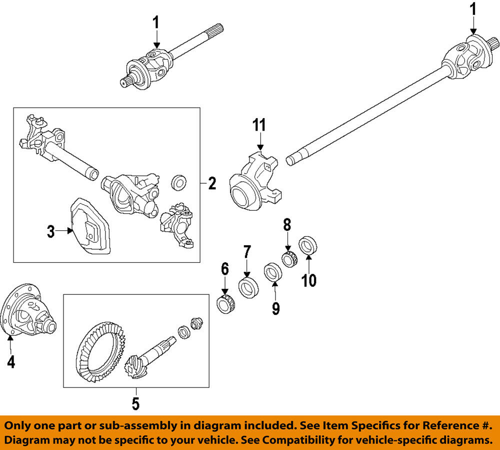 hight resolution of details about ford oem 17 18 f 350 super duty front differential pinion seal hc3z4l616a