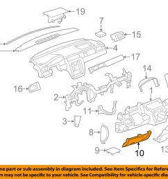 details about gm oem instrument panel dash knee bolster 15856687 [ 1000 x 798 Pixel ]