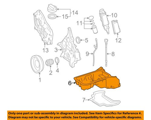 small resolution of details about mercedes oem 06 07 c350 3 5l v6 engine oil pan 2720141402