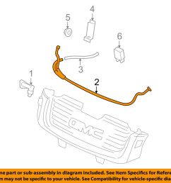 details about gmc gm oem 02 09 envoy washer headlight head light washer hose 19353708 [ 1000 x 798 Pixel ]