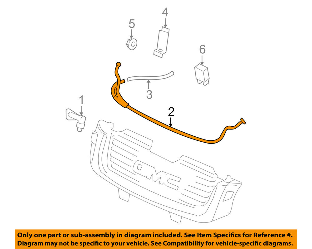 medium resolution of details about gmc gm oem 02 09 envoy washer headlight head light washer hose 19353708