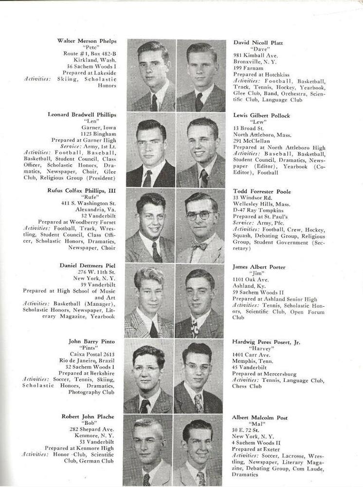 1951 THE OLD CAMPUS YEARBOOK, YALE UNIVERSITY, NEW HAVEN