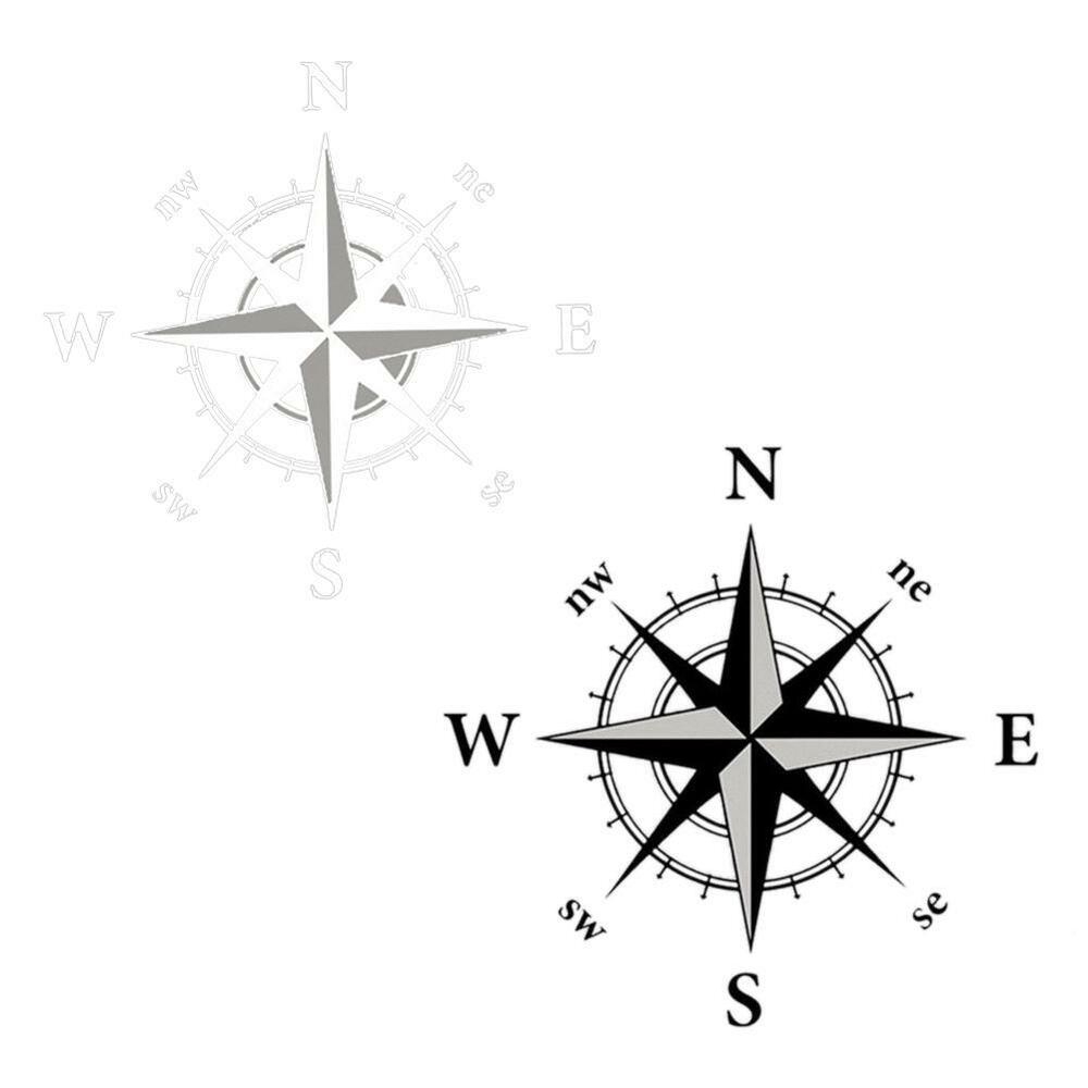 20'' 3D Hood Compass Car Decal For Jeep Wrangler Rubicon