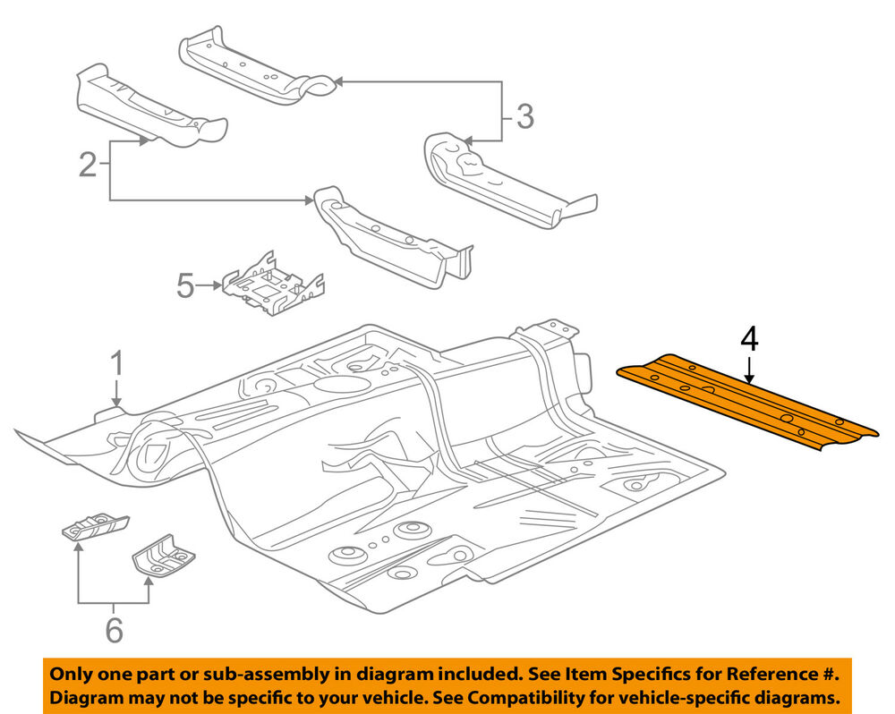 hight resolution of details about gm oem floor lower brace 23190019