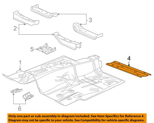 small resolution of details about gm oem floor lower brace 23190019