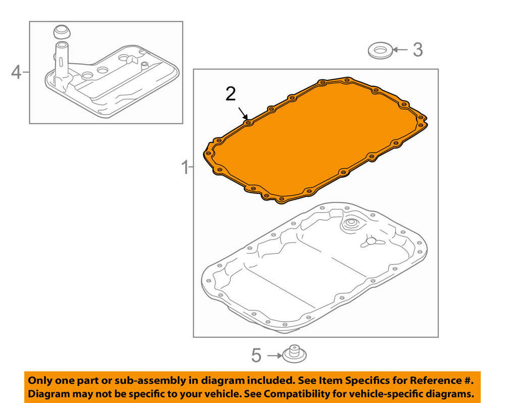 hight resolution of details about bmw oem 07 13 328i automatic transmission pan gasket 24117572618