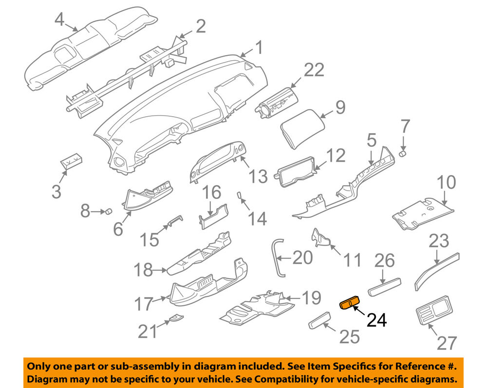 hight resolution of details about bmw oem 97 98 540i instrument panel dash trim molding right 51458186356