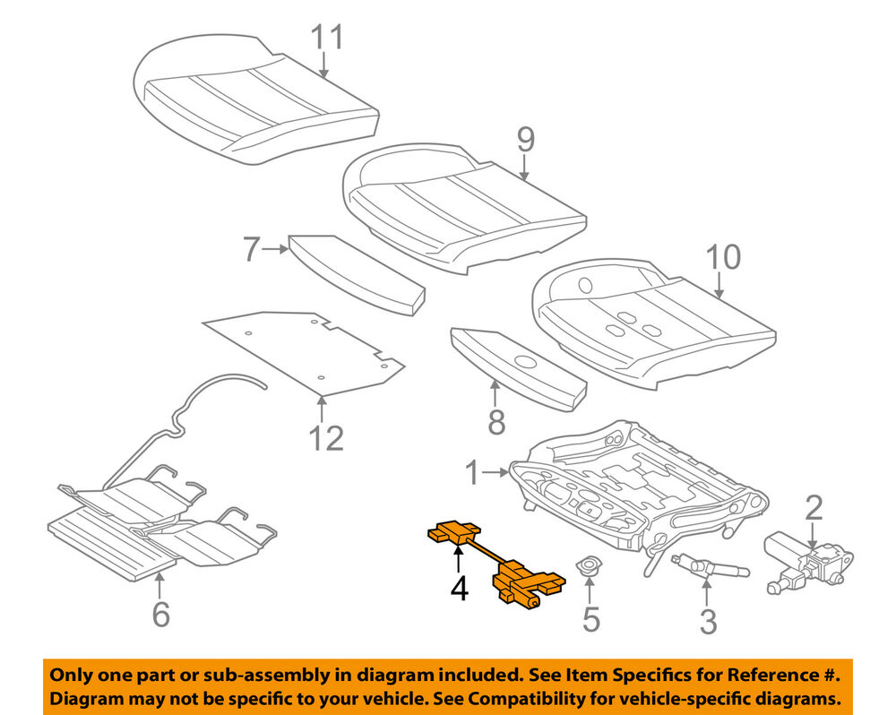 hight resolution of details about bmw oem 06 10 550i power seat track motor 52107068045