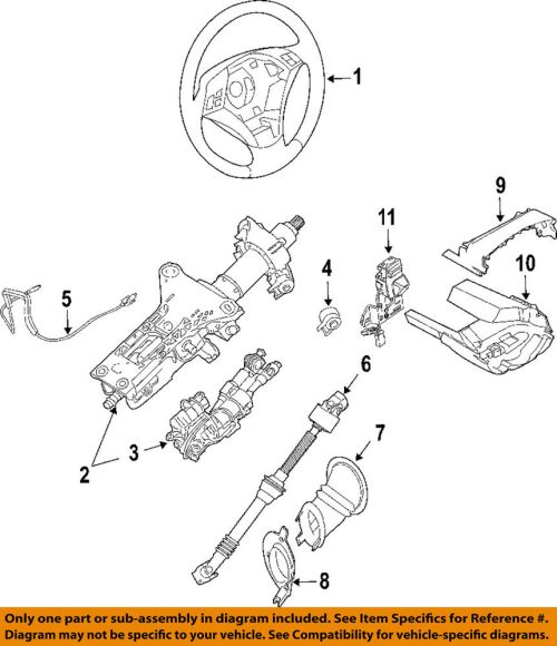 small resolution of details about bmw oem 06 10 550i steering column upper shroud 61316947772