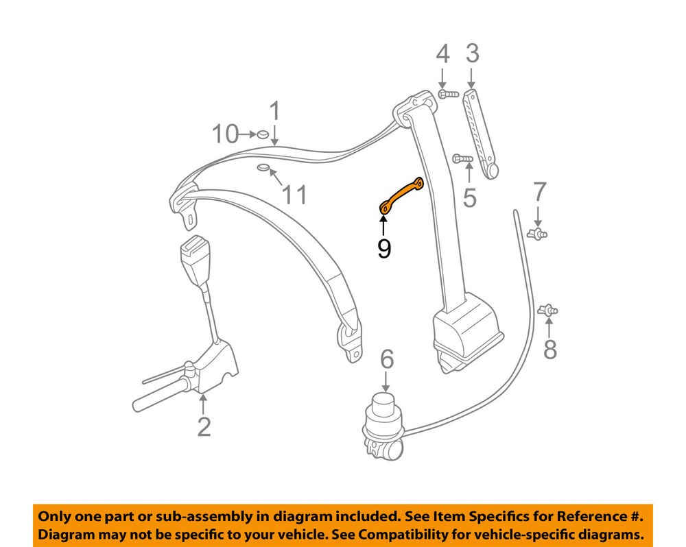 hight resolution of details about bmw oem 01 06 325i front seat belt bow 72119117185