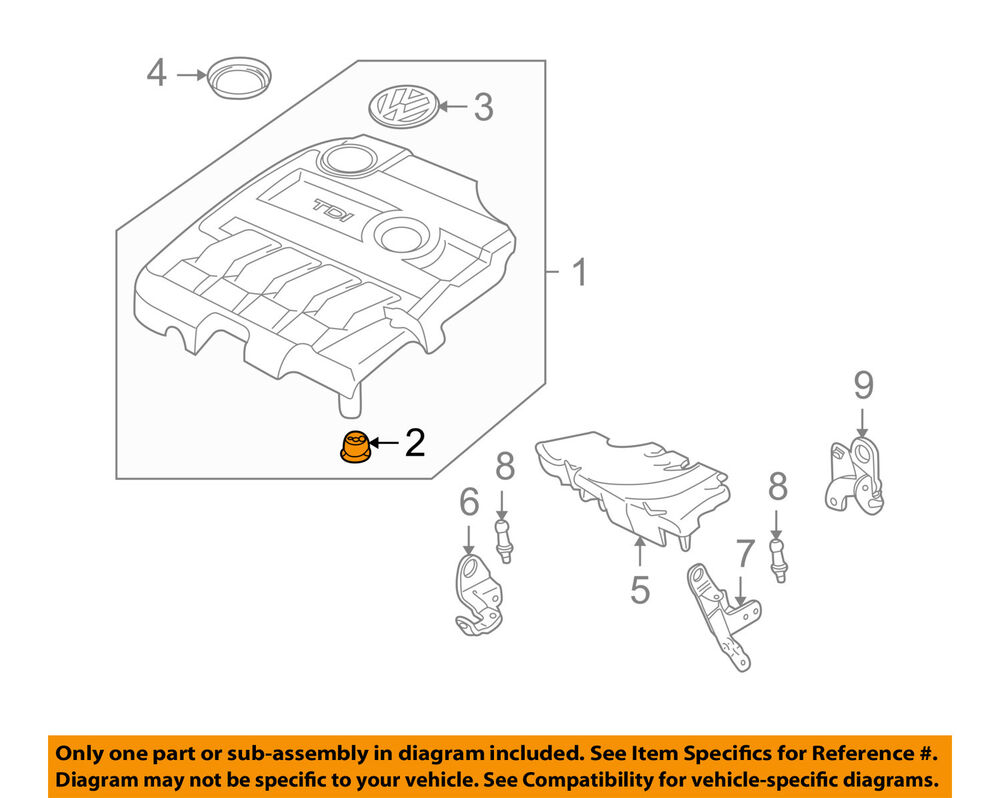 hight resolution of details about vw volkswagen oem 09 15 jetta engine appearance cover cover retainer 07c103226