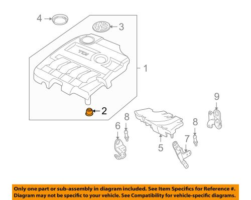 small resolution of details about vw volkswagen oem 09 15 jetta engine appearance cover cover retainer 07c103226