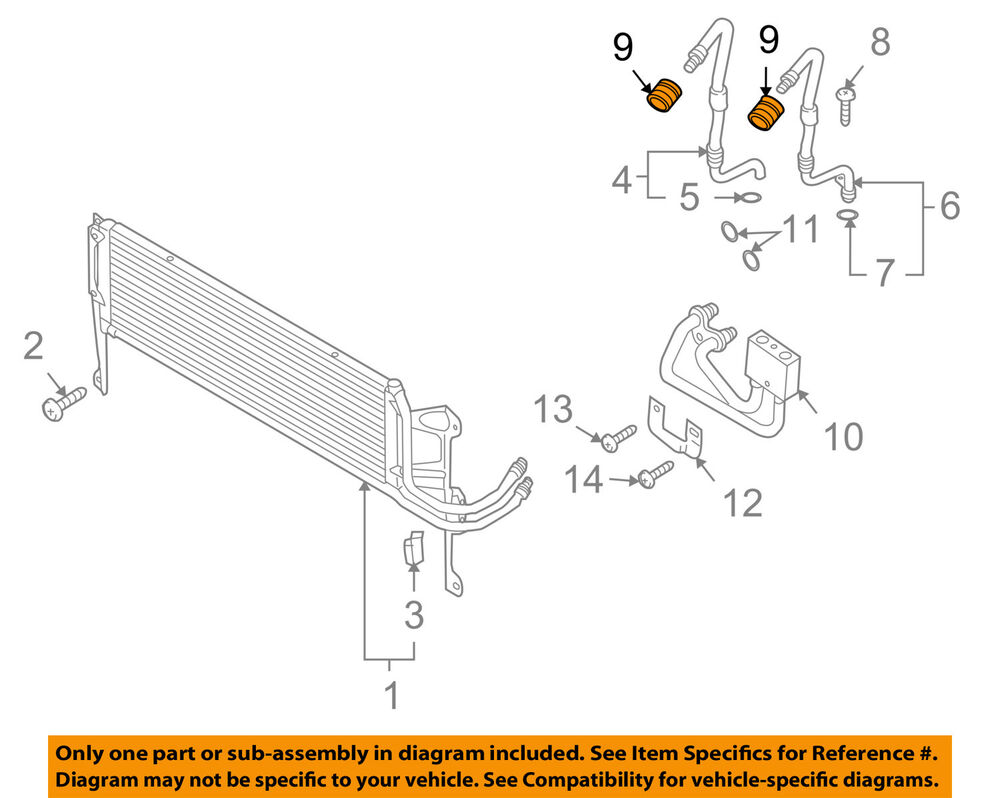 medium resolution of details about vw volkswagen oem 09 17 tiguan 2 0l transmission oil cooler seal kit 5n0317229