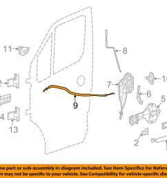 details about mercedes oem 10 17 sprinter 3500 front door lock cable right 9067601304 [ 1000 x 798 Pixel ]