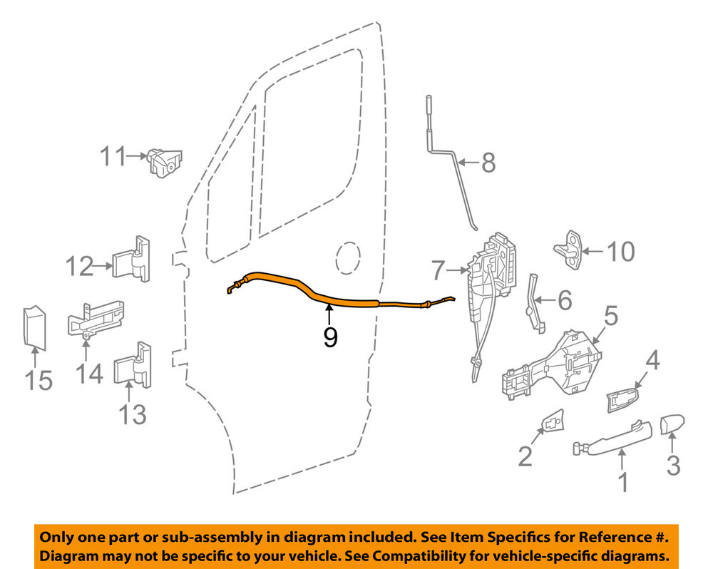medium resolution of details about mercedes oem 10 17 sprinter 3500 front door lock cable right 9067601304