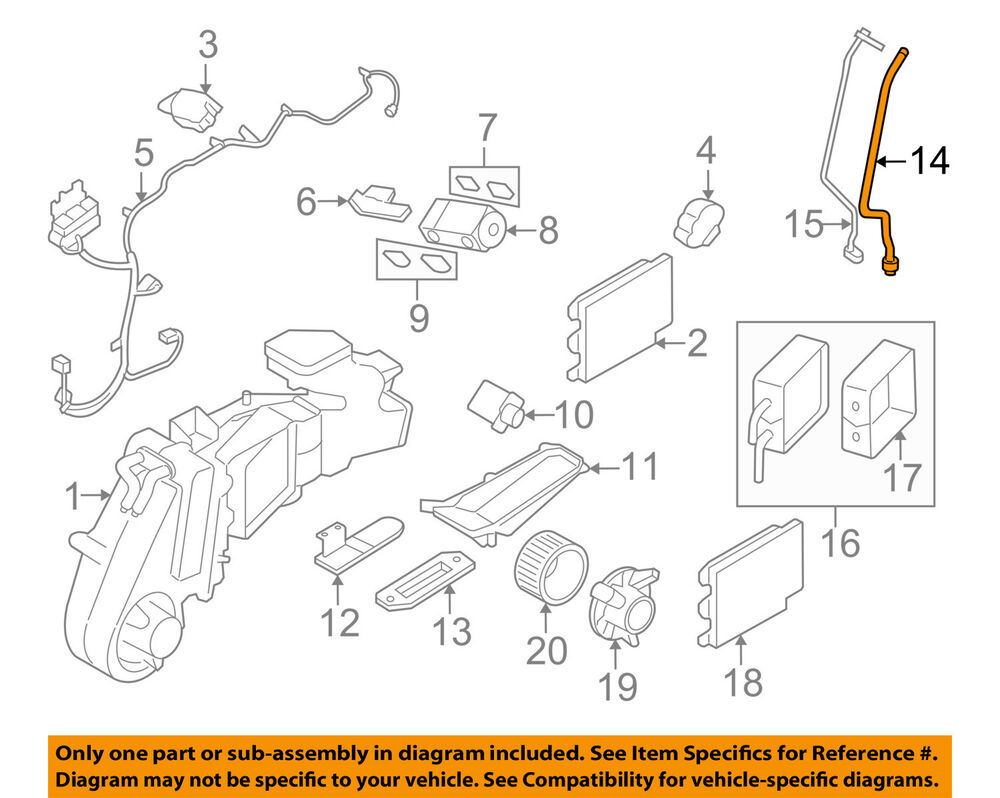 hight resolution of details about ford oem 05 07 freestyle auxiliary air conditioner hose 5f9z19835ab