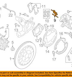 details about ford oem 15 18 mustang brake rear caliper retainer kit fr3z2068e [ 1000 x 798 Pixel ]