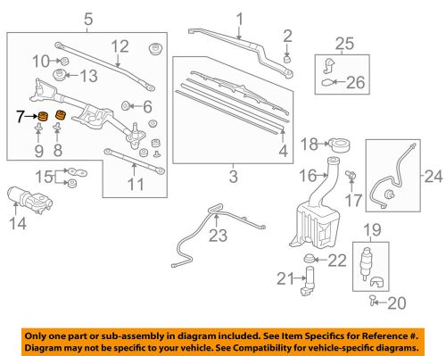 small resolution of details about honda oem wiper windshield linkage assembly bushing 76516sr3003