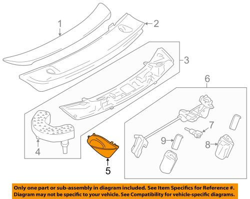 small resolution of details about porsche oem 14 18 911 spoiler engine lid end cover left 99150458105