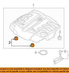 details about vw volkswagen oem engine appearance cover engine cover connector 059103226 [ 1000 x 798 Pixel ]