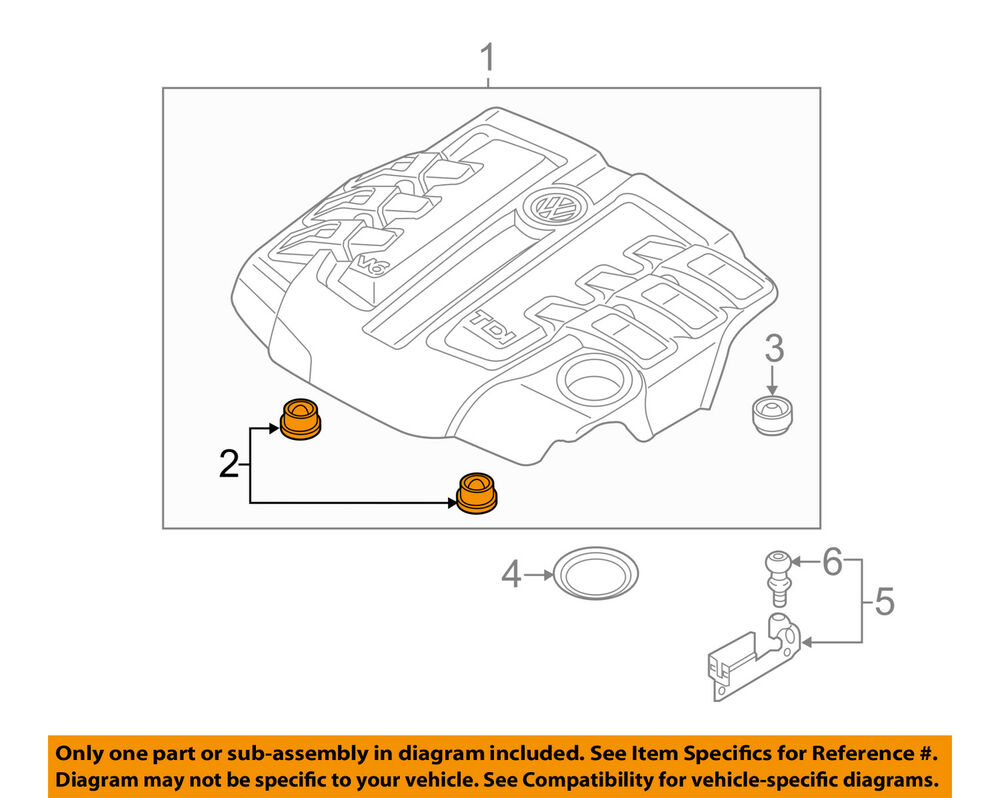 hight resolution of details about vw volkswagen oem engine appearance cover engine cover connector 059103226
