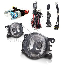 details about for 2006 2008 mitsubishi endeavor fog lights w wiring kit hid kit clear [ 1000 x 1000 Pixel ]