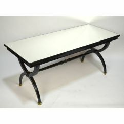 Black Lacquer Sofa Table Chesterfield Gumtree Ni French Mid Century Mirror Top Coffee Manner Details About Andre Arbus