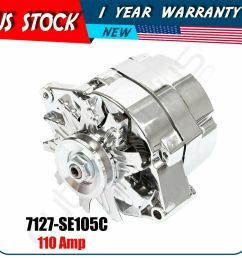 details about alternator for chrome chevy 327 350 396 427 454 1968 1982 gm vehicles 120 amp [ 1000 x 1000 Pixel ]