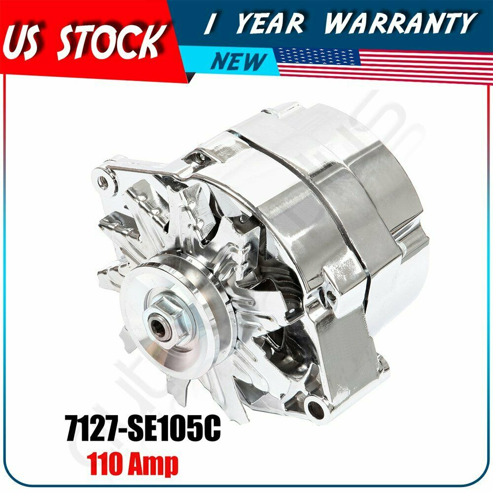 hight resolution of details about alternator for chrome chevy 327 350 396 427 454 1968 1982 gm vehicles 120 amp