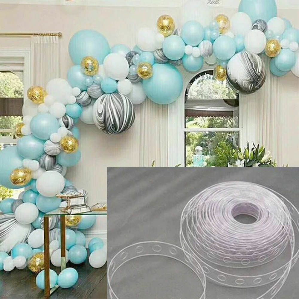5m Wedding Birthday Party Wall Decor Balloon Chain Tape Arch Connect Strip Diy Ebay