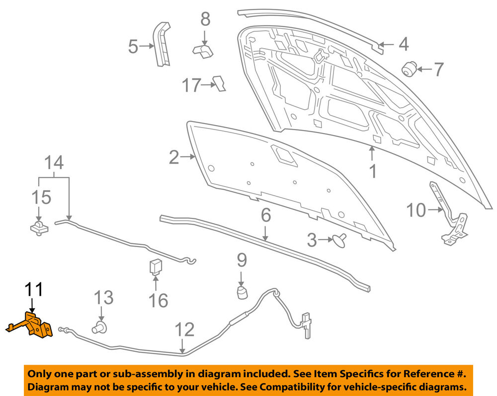 medium resolution of details about 2012 2016 chevy cruze hood latch new gm 42522220