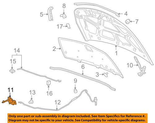 small resolution of details about 2012 2016 chevy cruze hood latch new gm 42522220