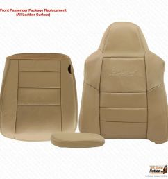 details about 2005 ford excursion limited passenger bottom top armrest leather seat cover tan [ 1000 x 1000 Pixel ]