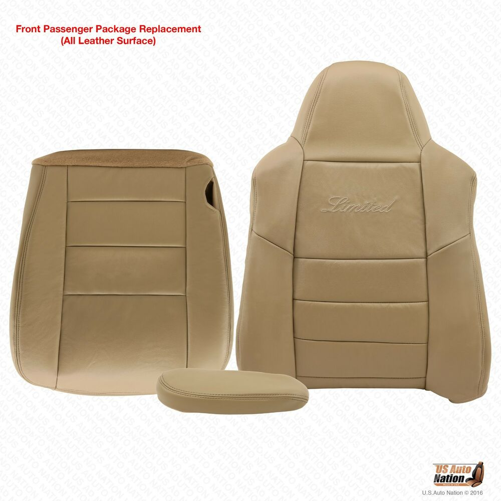 hight resolution of details about 2005 ford excursion limited passenger bottom top armrest leather seat cover tan