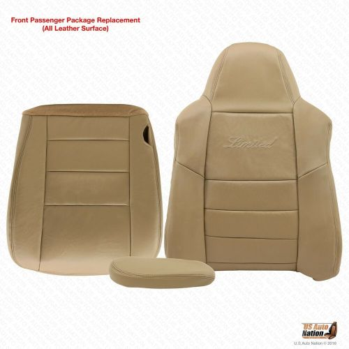 small resolution of details about 2005 ford excursion limited passenger bottom top armrest leather seat cover tan