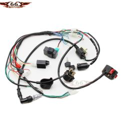 details about full electrics wiring harness coil cdi 50 70 110cc atv quad bike buggy go kart [ 1000 x 1000 Pixel ]