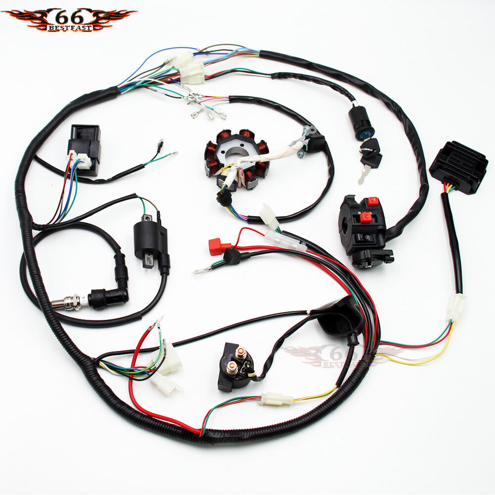 hight resolution of details about complete electrics atv quad 200 250 300cc cdi coil wiring harness zongshen lifan