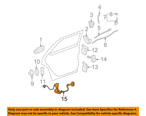 small resolution of cadillac gm oem 06 07 dts interior rear door wire harness left cadillac limousine wiring diagram